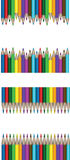 Frames of colorful pencils for your text Stock Photography