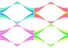 Frames coloridos imagem de stock