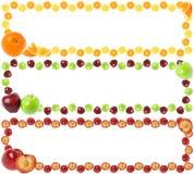 Frames coloridos da fruta Fotografia de Stock