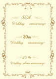 Frames with congratulations wedding day Stock Photography