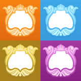 Frames with a crown. Four frames with a crown. different colors Royalty Free Stock Images