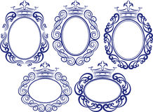 Frames with crown. Set of decorative frames with crown Royalty Free Stock Photo