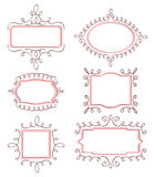 Frames-curls Royalty Free Stock Image