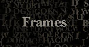 Frames - 3D rendered metallic typeset headline illustration Royalty Free Stock Photo