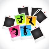 Frames da corrediça da foto Imagens de Stock