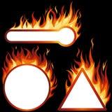 Frames da flama ilustração royalty free