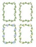 Frames da flor ilustração royalty free