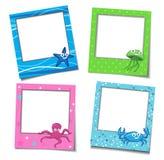 Frames da foto com desenhos animados Foto de Stock Royalty Free