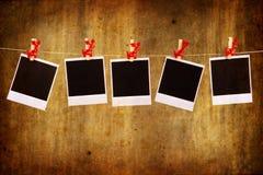 Frames da foto com ornamento do Natal Fotografia de Stock Royalty Free