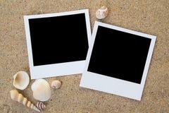 Frames da foto da praia do verão Fotos de Stock Royalty Free