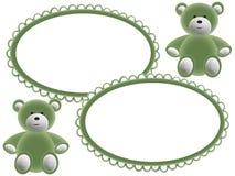 Frames da foto das crianças com ursos Imagem de Stock