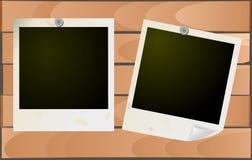 Frames da foto de Grunge na madeira Foto de Stock