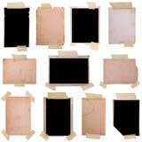 Frames da foto do vintage ajustados fotos de stock