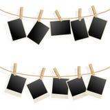Frames da foto na corda Fotografia de Stock