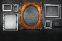 Frames da foto na parede do vintage Imagem de Stock Royalty Free