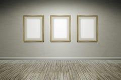Frames da parede de Grunge Fotografia de Stock Royalty Free