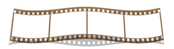 Frames da tira 4 da película Foto de Stock Royalty Free