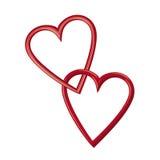 Frames dados forma coração Imagem de Stock