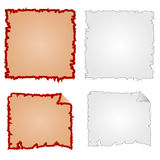 Frames or Damaged Equipment and tattered paper vector. Illustration Stock Photo