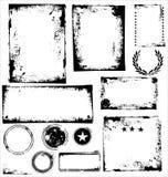 Frames das imagens de Grunge - jogo Fotografia de Stock