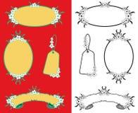 Frames das margaridas brancas ilustração stock