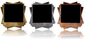 Frames de couro da foto Fotos de Stock Royalty Free