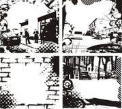 Frames de Grunge ilustração royalty free