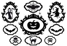 Frames de Halloween, vetor Imagem de Stock