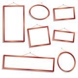 Frames de madeira Fotografia de Stock