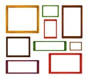 Frames de madeira ajustados Fotografia de Stock Royalty Free