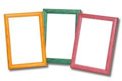 Frames de madeira coloridos Fotos de Stock Royalty Free
