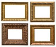 Frames de madeira com cinzeladura Foto de Stock Royalty Free