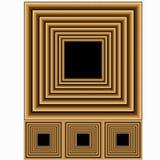 Frames de madeira da foto Fotografia de Stock Royalty Free
