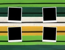 Frames de madeira da foto do assoalho Imagens de Stock