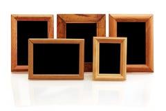 Frames de madeira da foto do vintage Fotografia de Stock