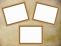 Frames de madeira no fundo do pergaminho Ilustração do Vetor