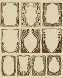 Frames de Nouveau da arte Fotografia de Stock Royalty Free