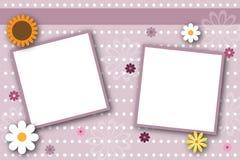 Frames de página do Scrapbook Fotos de Stock