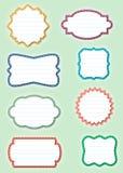 Frames de papel ornamentado - etiquetas ilustração do vetor
