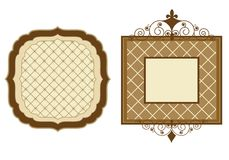 Frames de Patterened ilustração stock