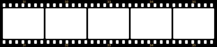 Frames de película Fotografia de Stock Royalty Free
