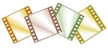 Frames de película da cor Fotografia de Stock Royalty Free
