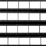 Frames de película do espaço em branco da folha do contato Fotografia de Stock Royalty Free