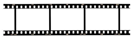 Frames de película Fotografia de Stock