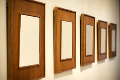 Frames de retrato de madeira Fotografia de Stock Royalty Free