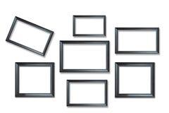 Frames de retrato de madeira Fotos de Stock