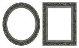 Frames de retrato de prata Foto de Stock