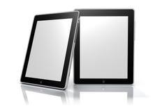 Frames de retrato digitais em branco (trajeto de grampeamento) Foto de Stock
