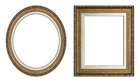 Frames de retrato do ouro Fotografia de Stock Royalty Free