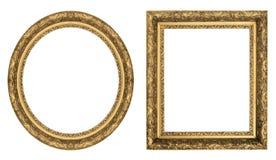 Frames de retrato do ouro Foto de Stock Royalty Free